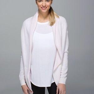 Lululemon Blush Pink Cabin Yogi Sweater Wrap